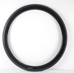 50mm Deep Carbon 700C 25mm Wide U Shape Road Rim Clincher With/no Basalt Braking Surface [GTL-R50CF-C25]