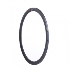 Wider U Shape Carbon Road Bike 38mm Deep Rim Tubular 700C with/no Basalt Braking Surface [GTL-R38CF-T25]